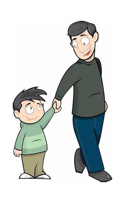 Father Dad Clipart Clip Story Cliparts Boat