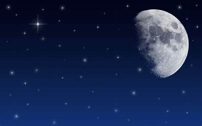 Sky Night Stars Background Moon Animated Star