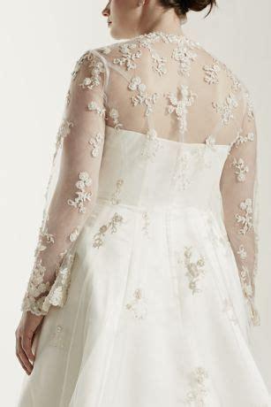 size wedding dress  beaded lace jacket davids