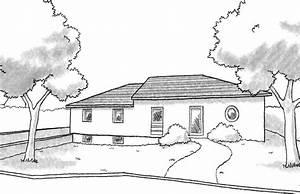 good esquisse d plan de maison de plainpied avec soussol With beautiful agrandir sa maison prix 3 maison de plain pied de avec toiture 4 pans et 3 chambres