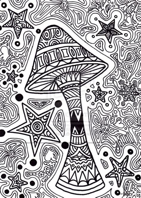 trippy mushroom coloring page coloring pages pinterest coloring pages coloring  mushrooms