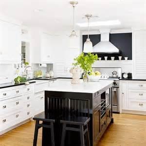 white kitchen black island 25 beautiful black and white kitchens the cottage market
