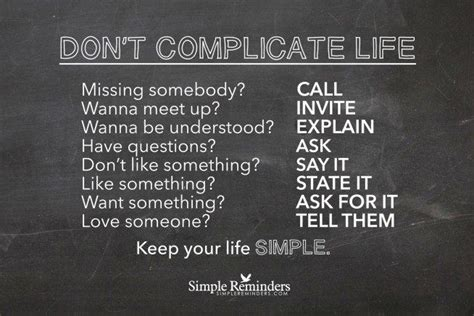 Keep Your Life Simple Quotes