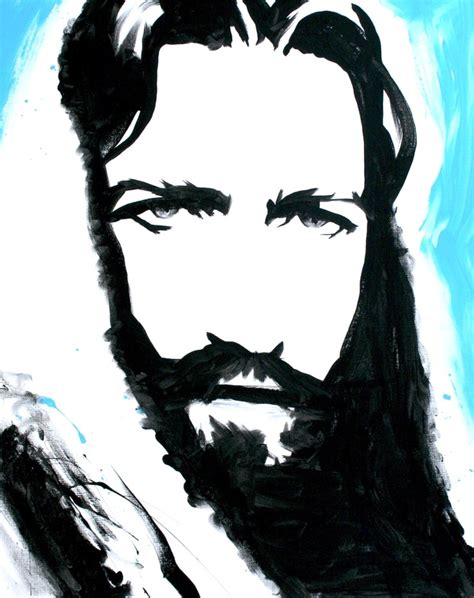 Abstract Black And White Jesus Painting by 54 Best Images About Christian Artwork On