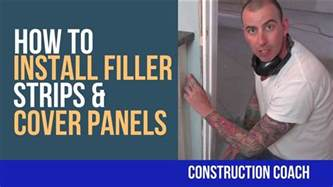 how to install filler strips cover panels diy youtube