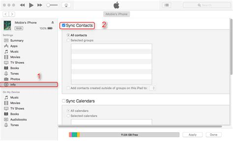 sync contacts  mac  iphone withwithout itunes