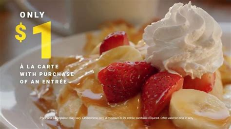 Don't forget to book the tickets,.?. Denny's Crepes TV Commercial, '$1 Crepe With Entree ...