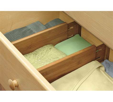 expanding bamboo drawer dividers deep set    drawer dividers