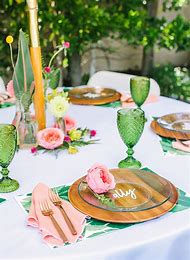 Tropical Bridal Shower Tables Decorations