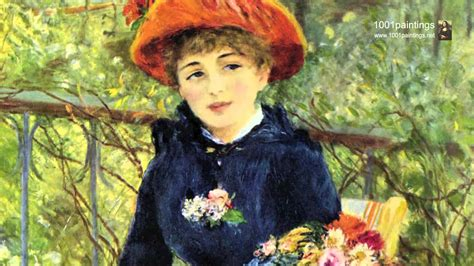 renoir two on the terrace two on the terrace by the painter
