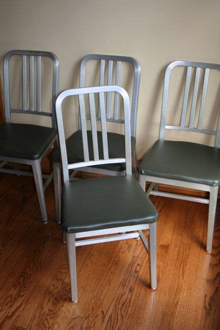 aluminum goodform navy chair restoration artifact bag