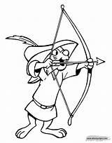 Coloring Skippy Hood Robin Cartoon Disney Maid Marian 1104 Disneyclips Template Templates Guardado sketch template