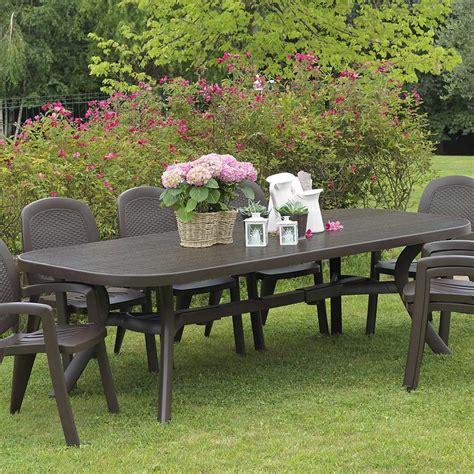 tavoli plastica giardino tavolo da giardino in plastica toscana all 250 arredas 236