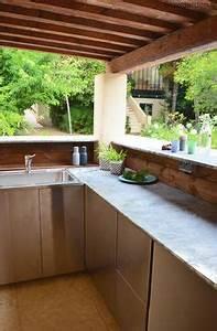 1001idees d39amenagement d39une cuisine d39ete exterieure With bar exterieur pour piscine