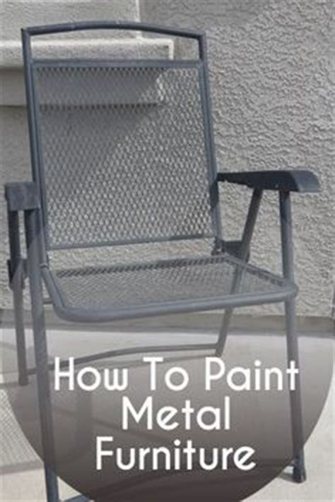1000 ideas about painting metal furniture on
