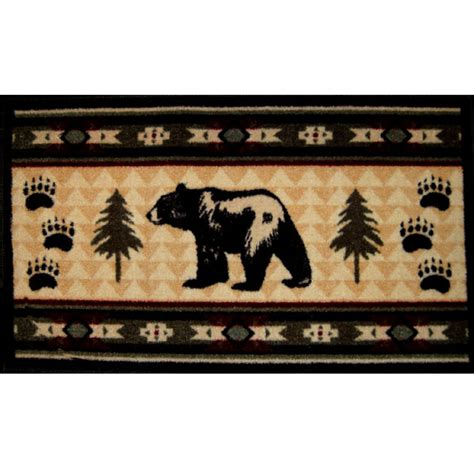 rustic bath mat fever rustic bathroom rug cabin place