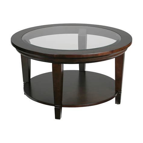 round glass table l lincoln tempered glass top round coffee table pier imports
