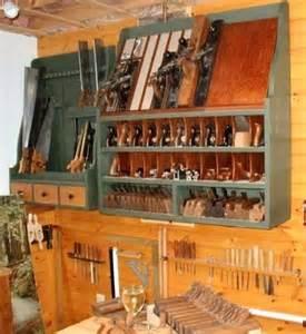 Wood Hand Plane Storage Cabinet