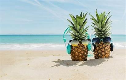 Happy Sand Sea Beach Summer Pineapple Headphones