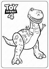 Coloring Toy Rex Disney Printable Pdf Sheets Coloriage Characters Dessin Dino Dinosaur Woody Cartoon Coloringoo Imprimer Coloreardibujos Colouring Enfants Pixar sketch template