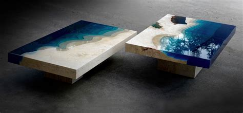 Table Of Tables by Check Out These Surreal Marble Resin Tables By Alexandre