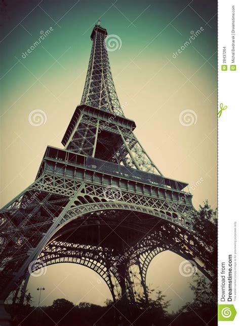 eiffel tower  paris fance  retro style stock images