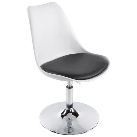 chaise noir et blanc chaise design aisne rotative et réglable blanc et noir