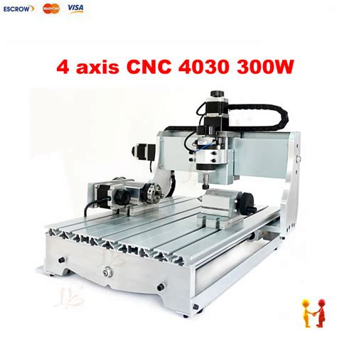 factory 4 four axis 300w 3040 cnc router ballscrew cnc engraving machine drilling and milling