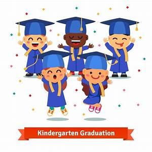 Kindergarten graduation party Vector   Free Download