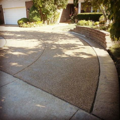 residential exposed aggregate concrete driveways photo