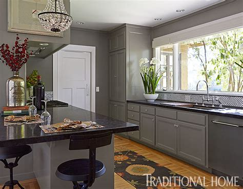 gorgeous gray napa valley kitchen traditional home