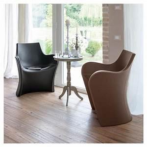 Fauteuil Cuir Design : woopy petit fauteuil design cuir simili cuir b line ~ Melissatoandfro.com Idées de Décoration