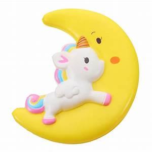Squishy Unicorn Moon Slow Rising 19*16*5.5cm Collection ...