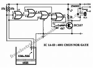 free schematic diagram water level controller circuit With the original 2 phone link design circuit