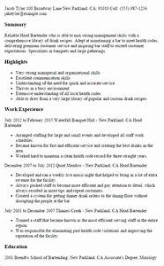 Professional Head Bartender Templates to Showcase Your