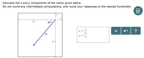 solved calculate     components   vector giv cheggcom