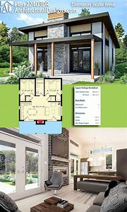 Tiny House Pläne : plan 22403dr contemporary vacation retreat top hausliste tiny house plans house plans und ~ Eleganceandgraceweddings.com Haus und Dekorationen