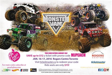 monster truck show discount code monster jam tickets contest entertain kids on a dime