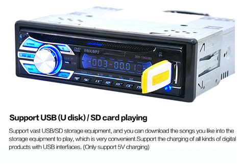 cd player für auto dropshipping for 1563u 12v car audio stereo support usb sd mp3 player aux dvd vcd cd player with