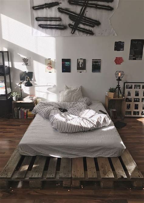 Mens Bedroom Inspo by Masculine Diy Wooden Pallet Bed For Zac S In 2019
