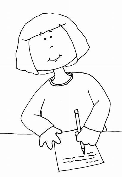 Writing Stamps Colouring Pages Digi Dolls Dearie