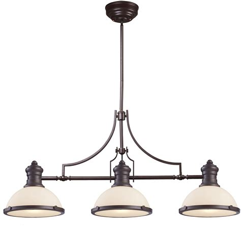 elk 66635 3 modern bronze kitchen island light