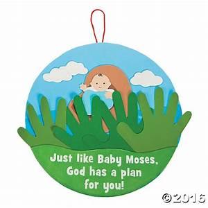 Handprint Baby Moses Sign Craft Kit   vbs   Pinterest ...