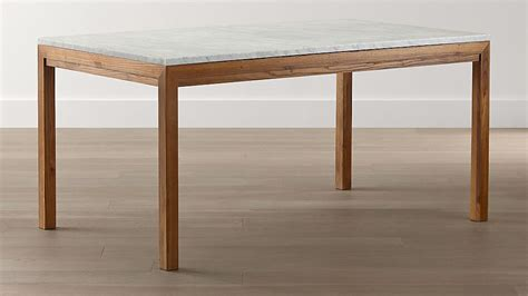 marble top elm base dining tables crate  barrel