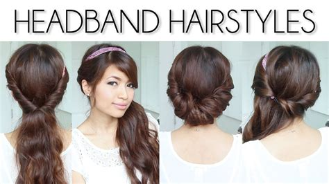 easy everyday headband hairstyles for short and long hair