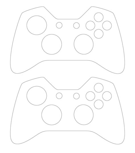 images  xbox  controller skin template printer