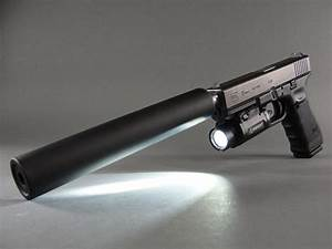 Glock 17 Gen4 9mm with AAC EVO9 sound suppressor and ...