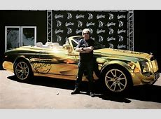 RollsRoyce Phantom Drophead Coupe Gets Chrome Gold