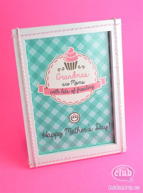 mothers day printable gift idea  grandma club chica