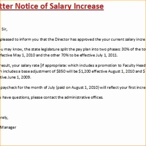 salary increase letter template uk simple salary slip